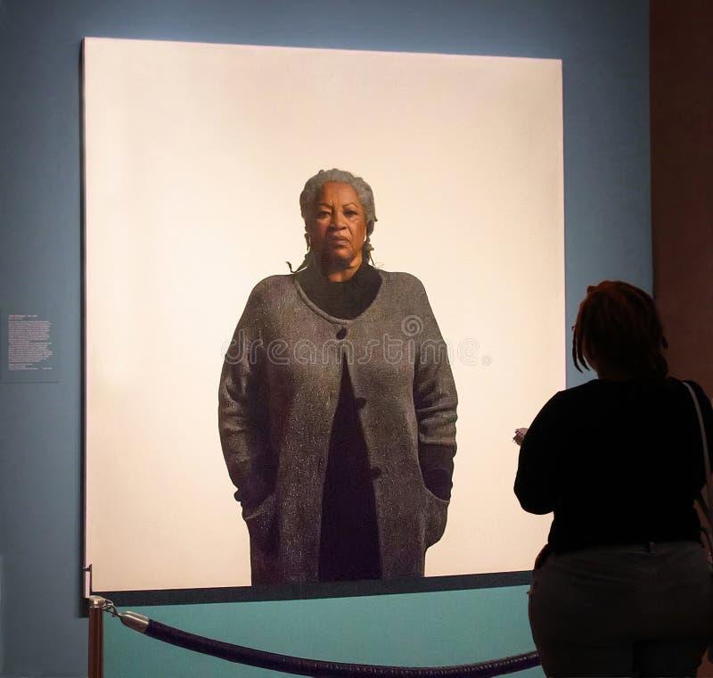 Auteur, Toni Morrison À La National Portrait Gallery images libres de droits