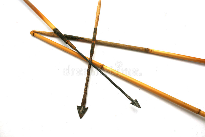Authentic african arrows royalty free stock photography