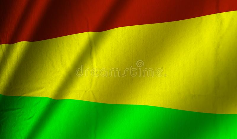 Authentic Bolivian flag royalty free illustration