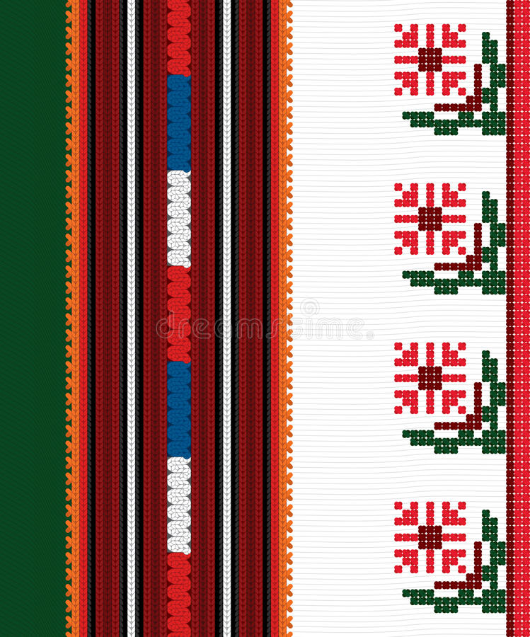 Authentic Bulgarian ornament 05 royalty free stock image