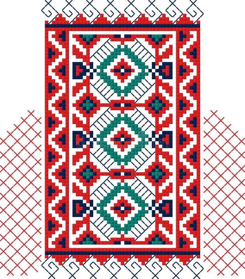 Authentic Bulgarian ornament 07 stock image