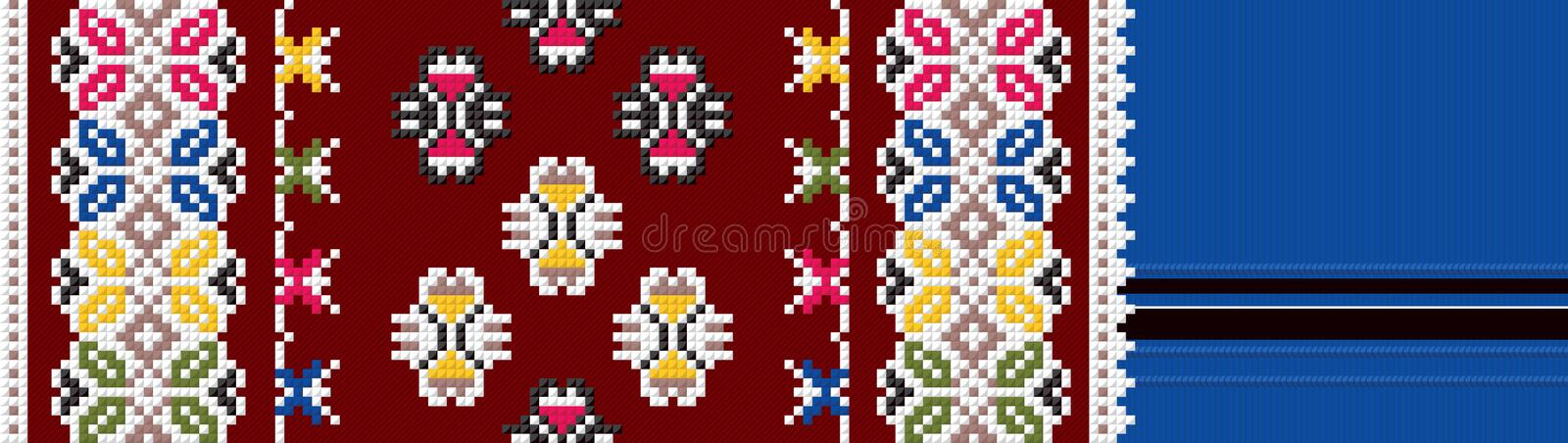 Authentic Bulgarian ornament 10 royalty free stock photo