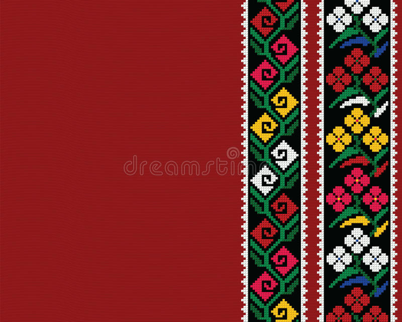 Authentic Bulgarian ornament 11 royalty free stock photo