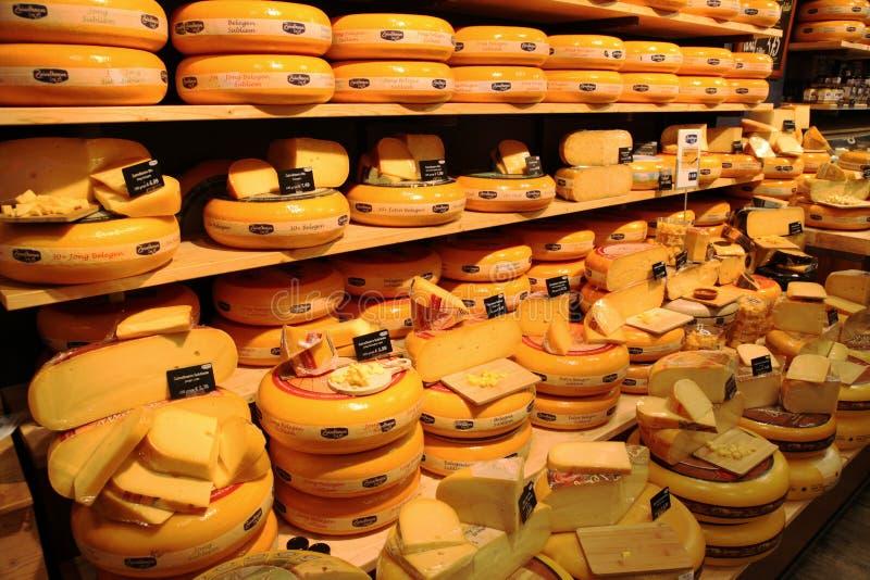 Dutch cheese shop royalty free stock photos
