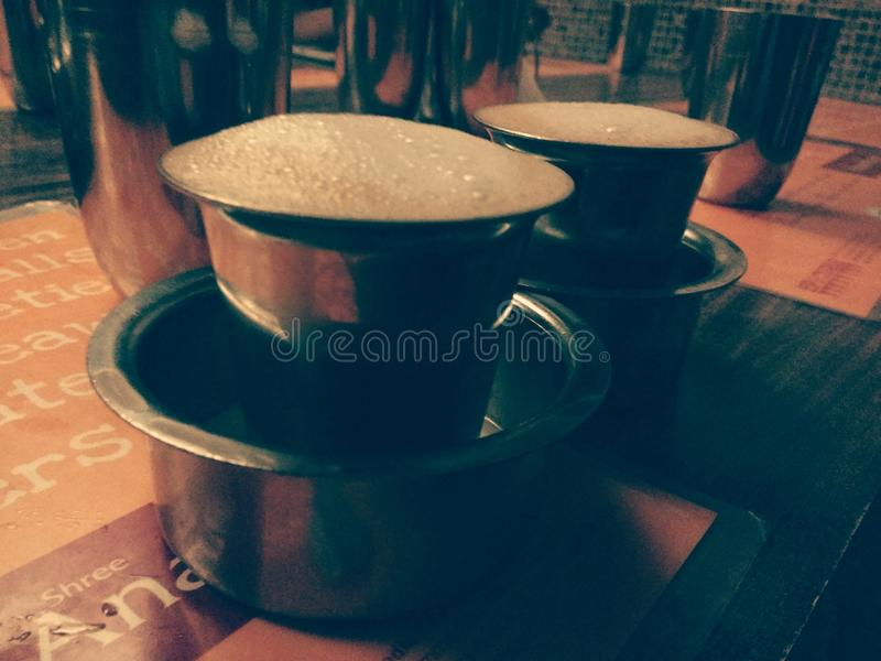 Authentic filter coffee stock image