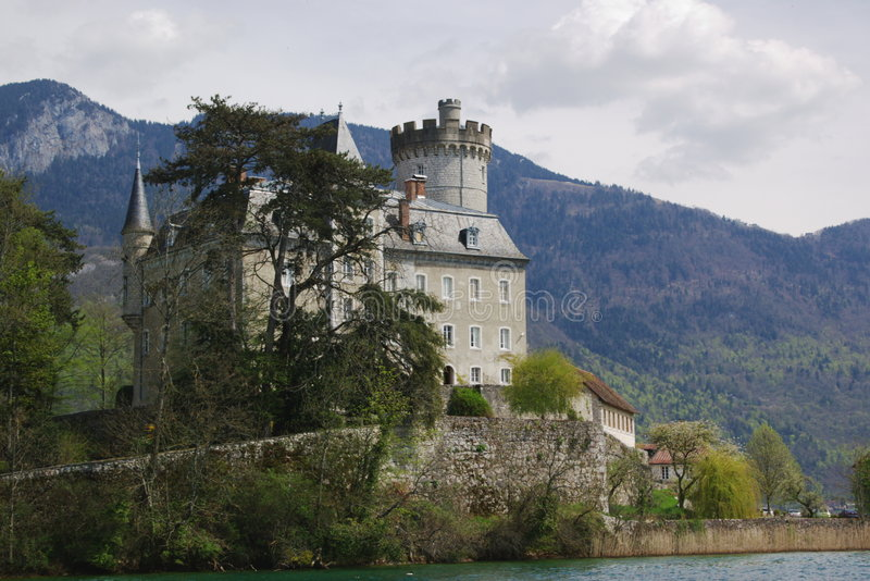 Authentic french castle royalty free stock image