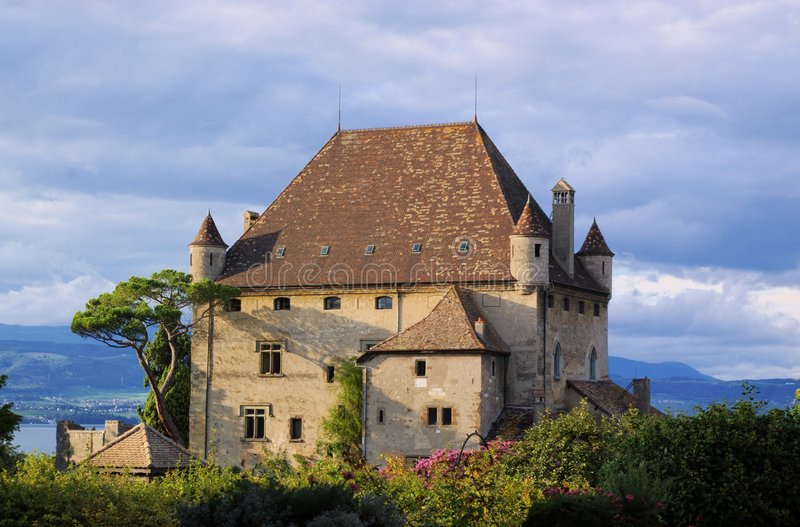 Authentic french mansion royalty free stock photos