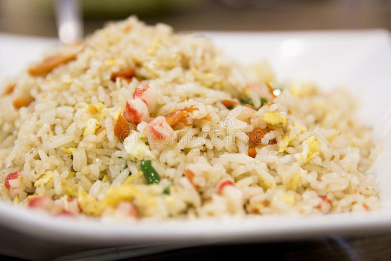 Authentic Fried Rice royalty free stock photography