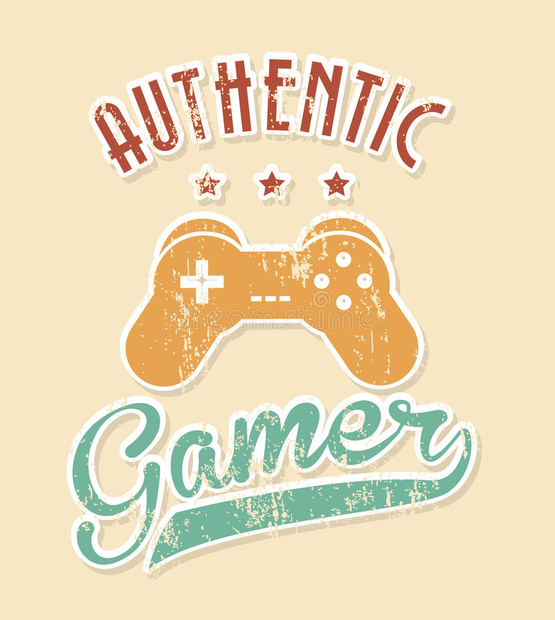 Authentic gamer. Over pink background vector illustration vector illustration