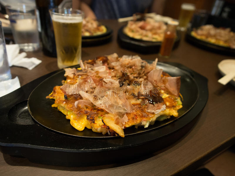 Authentic Osaka Okonomiyaki stock photos