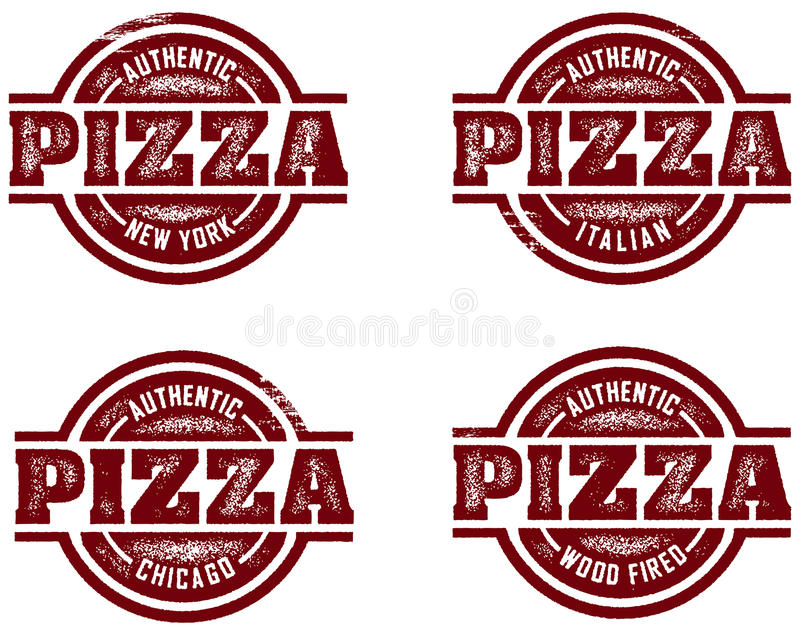 Authentic Pizza Stamps Stock Photography