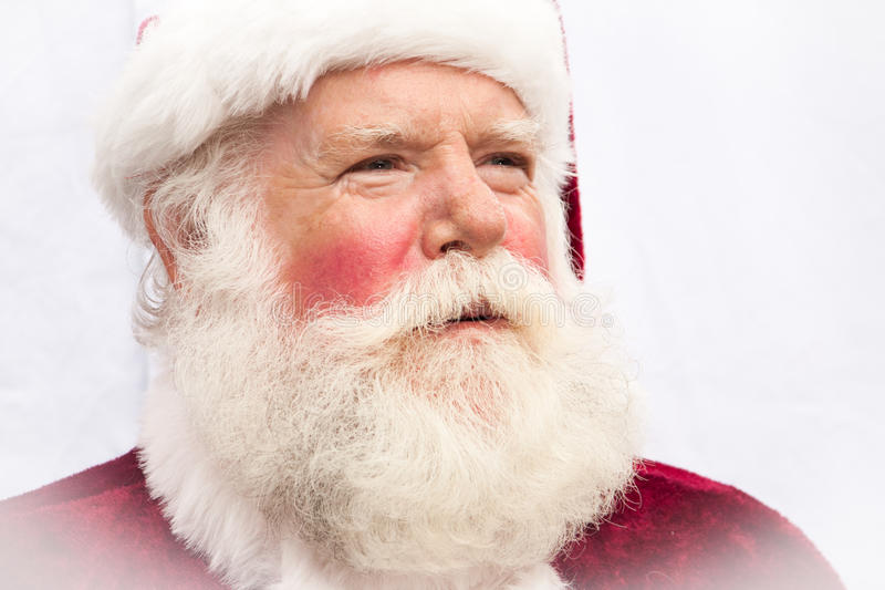Authentic Santa Claus. Close up of a very authentic realistic Santa Claus stock images