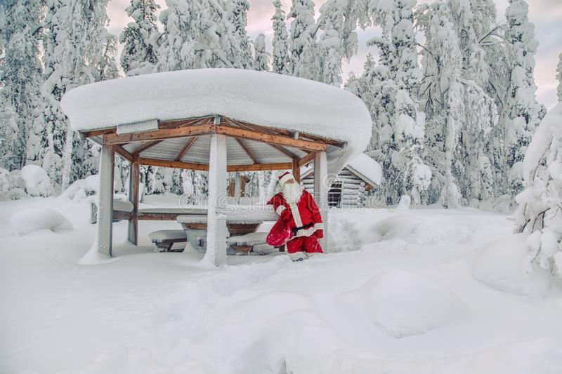 Authentic Santa Claus in Lapland. royalty free stock photo