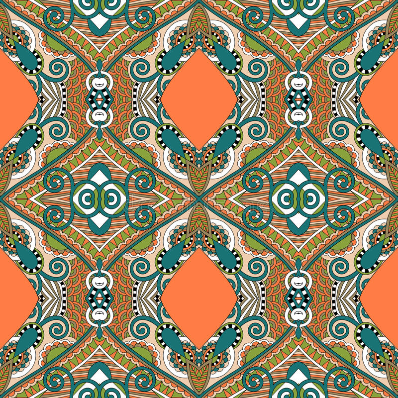 Authentic seamless floral geometric pattern, ethnic ukrainian ca stock illustration