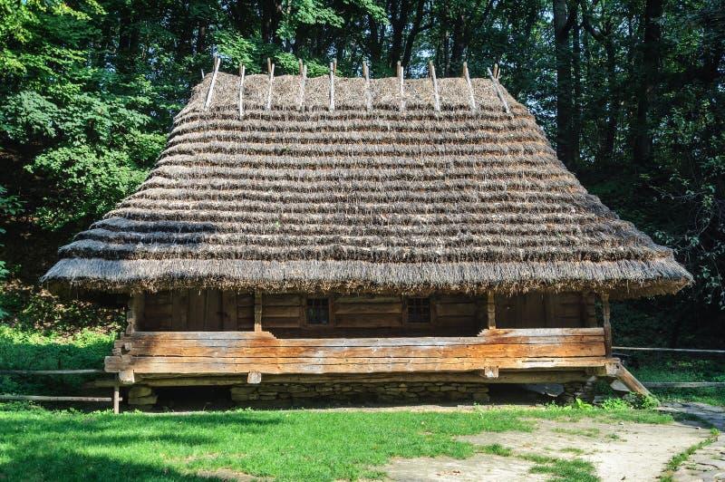 Authentic Ukrainian wooden house stock image