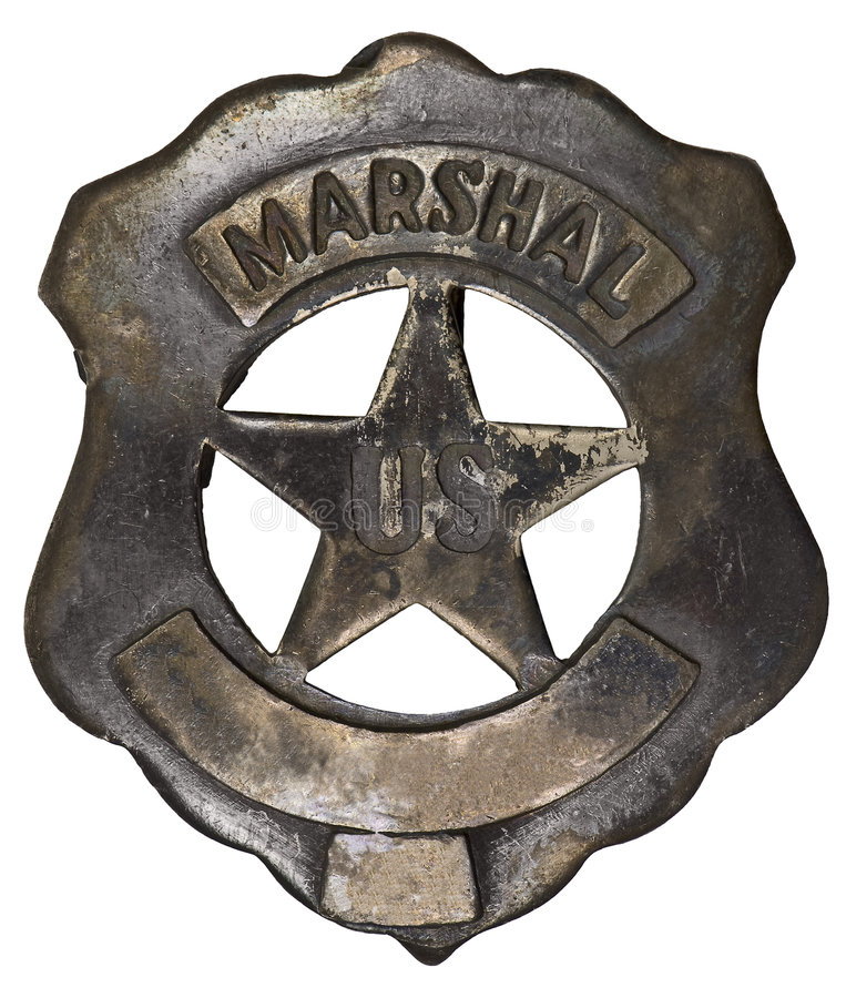 Download Authentic US Marshall Badge Stock Image - Image: 8680341
