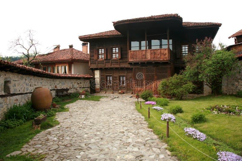 Authentiek oud Bulgaars huis royalty-vrije stock foto's