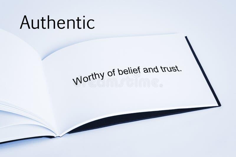 Authentieke Concept en Definitie royalty-vrije stock afbeelding