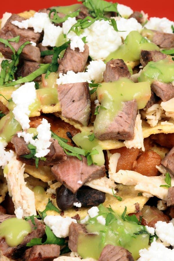 Authentieke Mexicaanse nachos royalty-vrije stock fotografie