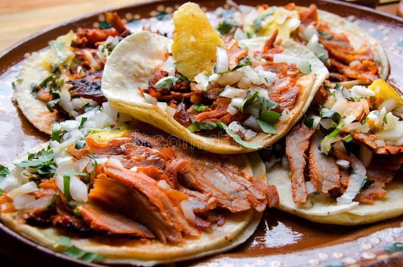 Authentieke Mexicaanse taco'sal predikant royalty-vrije stock afbeelding