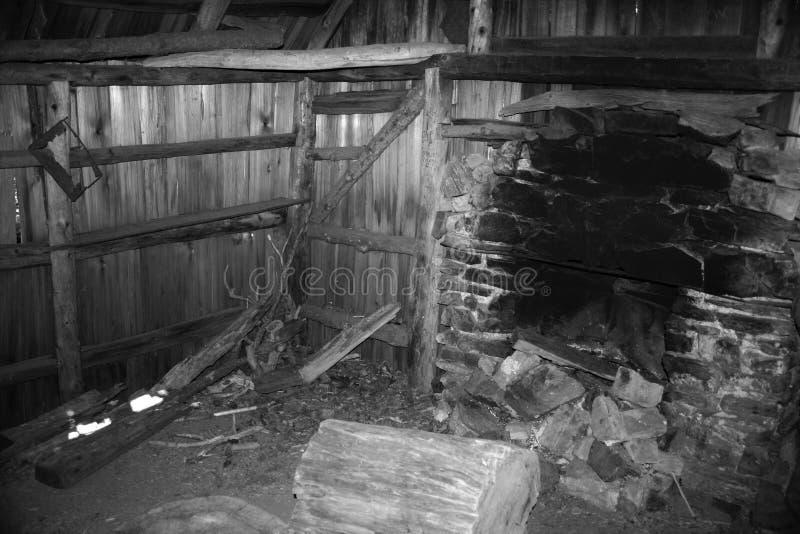 Authentieke pionierscabine stock fotografie
