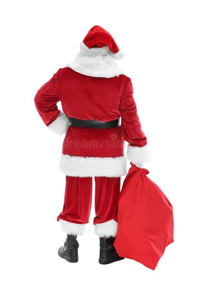 Download Authentieke Santa Claus Met Grote Giftzak Stock Afbeelding - Afbeelding bestaande uit geïsoleerd, claus: 107703151