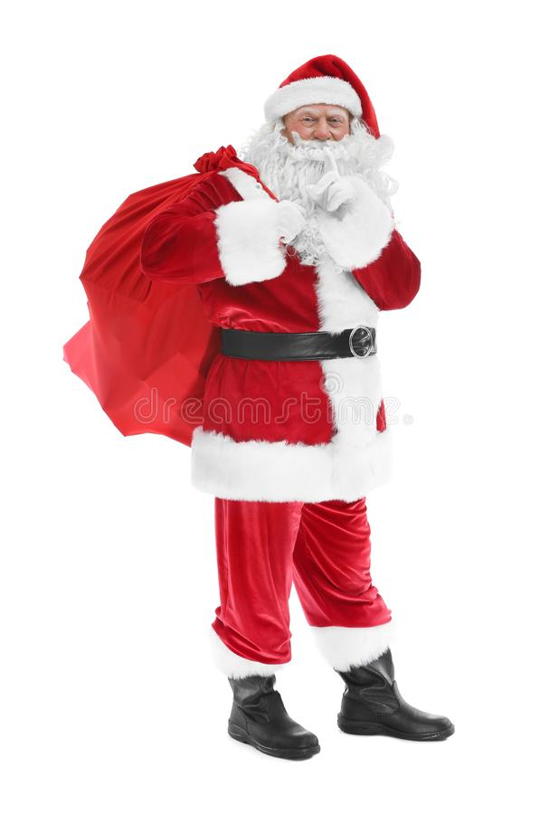 Download Authentieke Santa Claus Met Grote Giftzak Stock Foto - Afbeelding bestaande uit nieuw, hoed: 107703332
