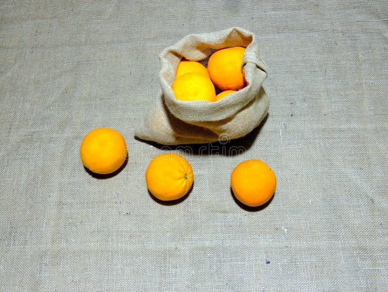 Authentieke sinaasappelenzak van Valencia stock afbeeldingen