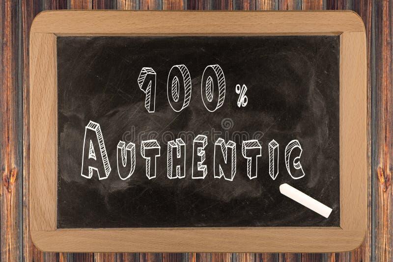 100% authentisch - Tafel stockbild