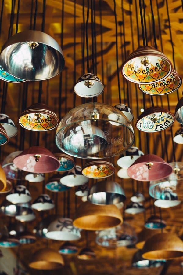 Authentische Lampenform vom Mittleren Osten stockfoto