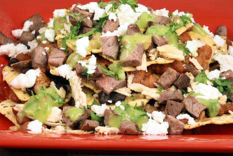 Authentische mexikanische Nachos stockfotos