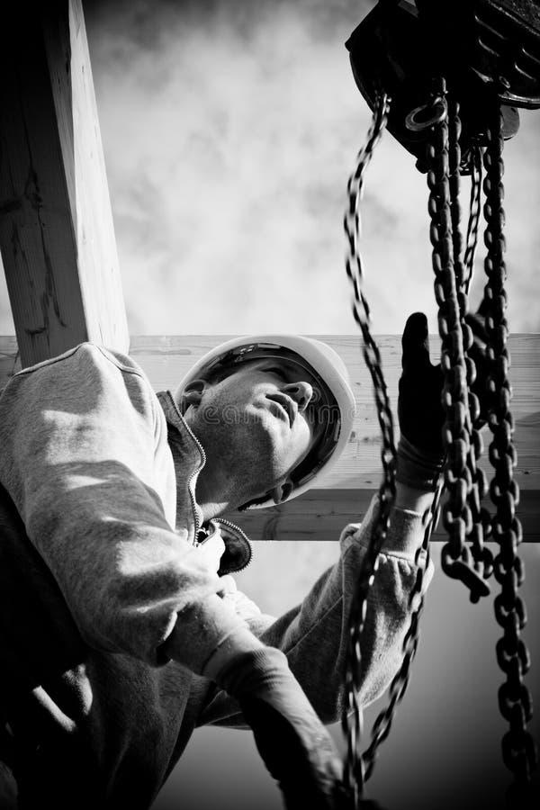 Authentischer Bauarbeiter lizenzfreie stockfotografie