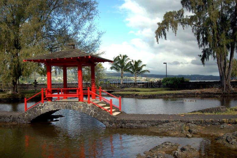 Authentischer japanischer Garten lizenzfreie stockfotografie
