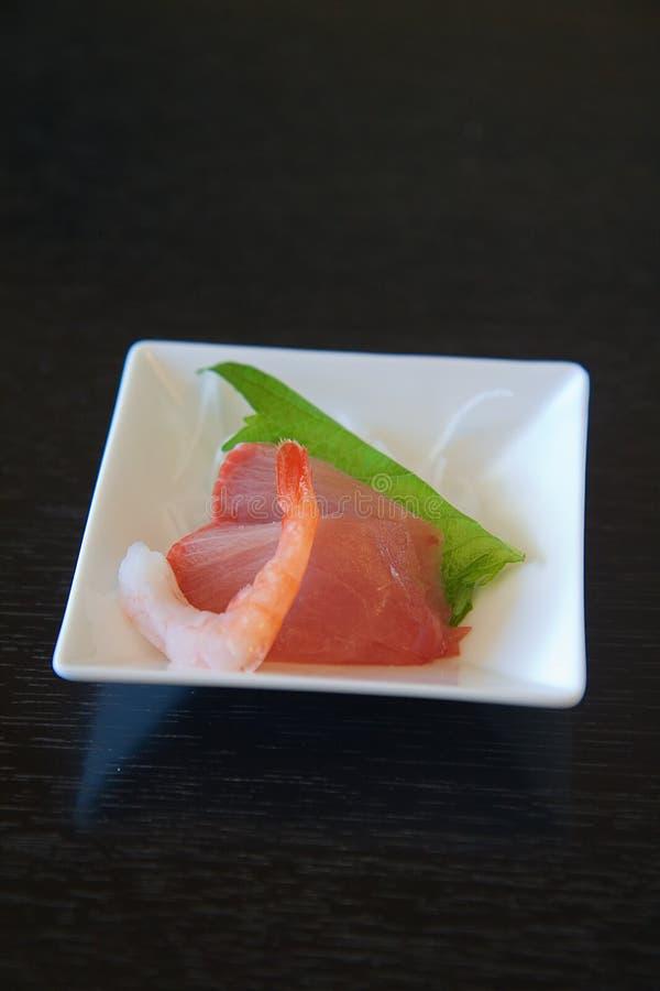 Authentischer japanischer Sashimi stockfotos
