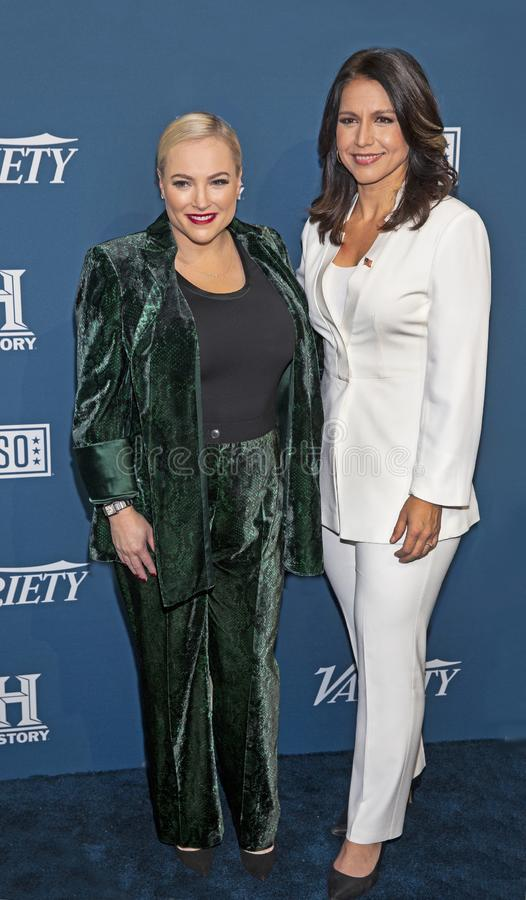 Meghan McCain & Tulsi Gabbard at the Variety 3rd Annual Salute to Service royalty free stock images