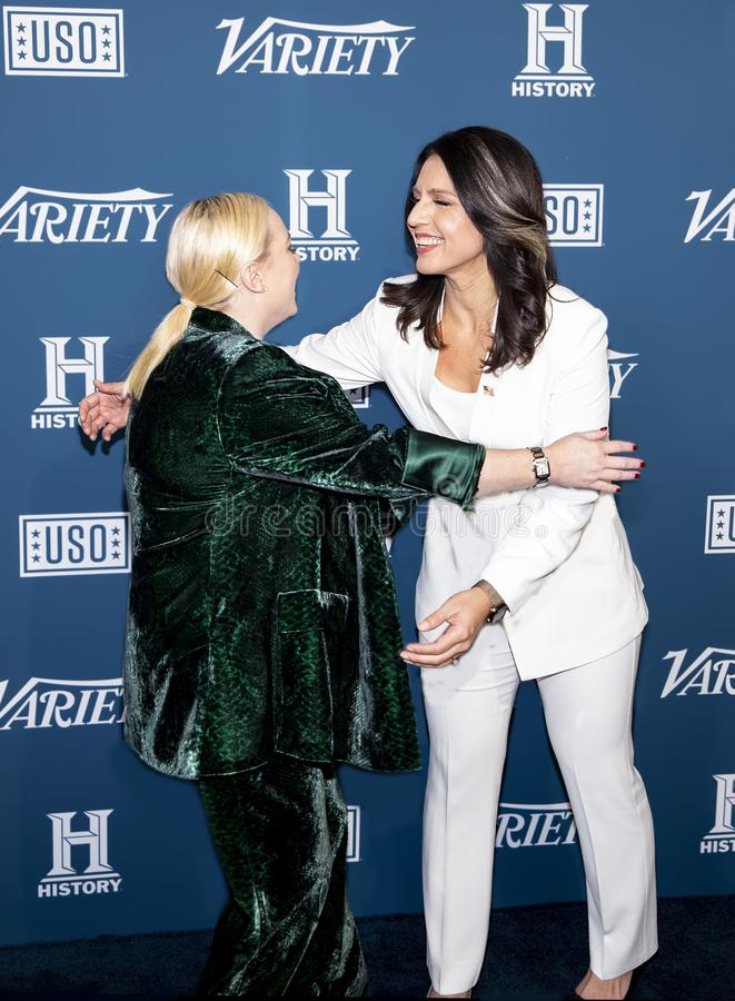 Meghan McCain & Tulsi Gabbard at Variety 3rd Annual Salute to Service royalty free stock photo