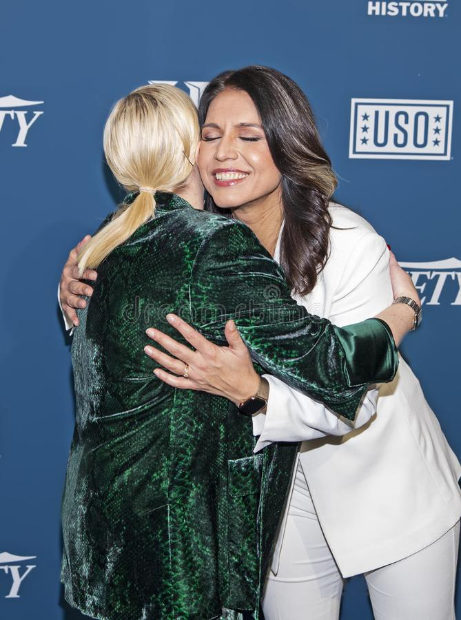 Meghan McCain & Tulsi Gabbard at Variety 3rd Annual Salute to Service stock photo