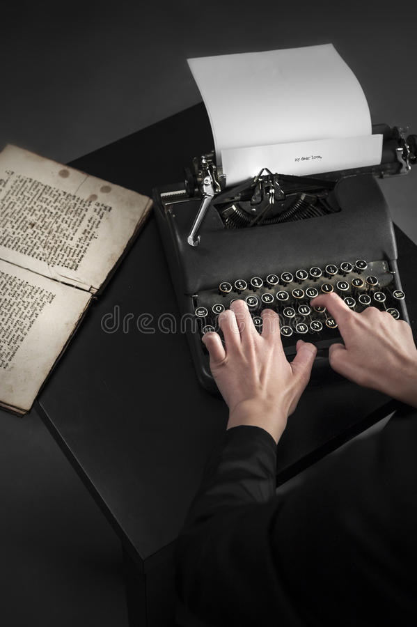 Download Old Typewriter And An Ancient Manuscript Stock Photo - Image: 30152708