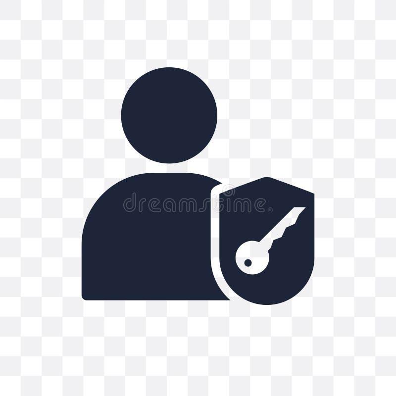 Authorize transparent icon. Authorize symbol design from Program royalty free illustration