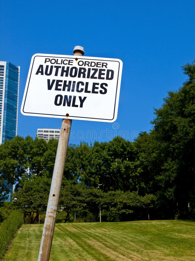 Download Authorized Vehicles Only Sign Stock Photo - Image: 16118430