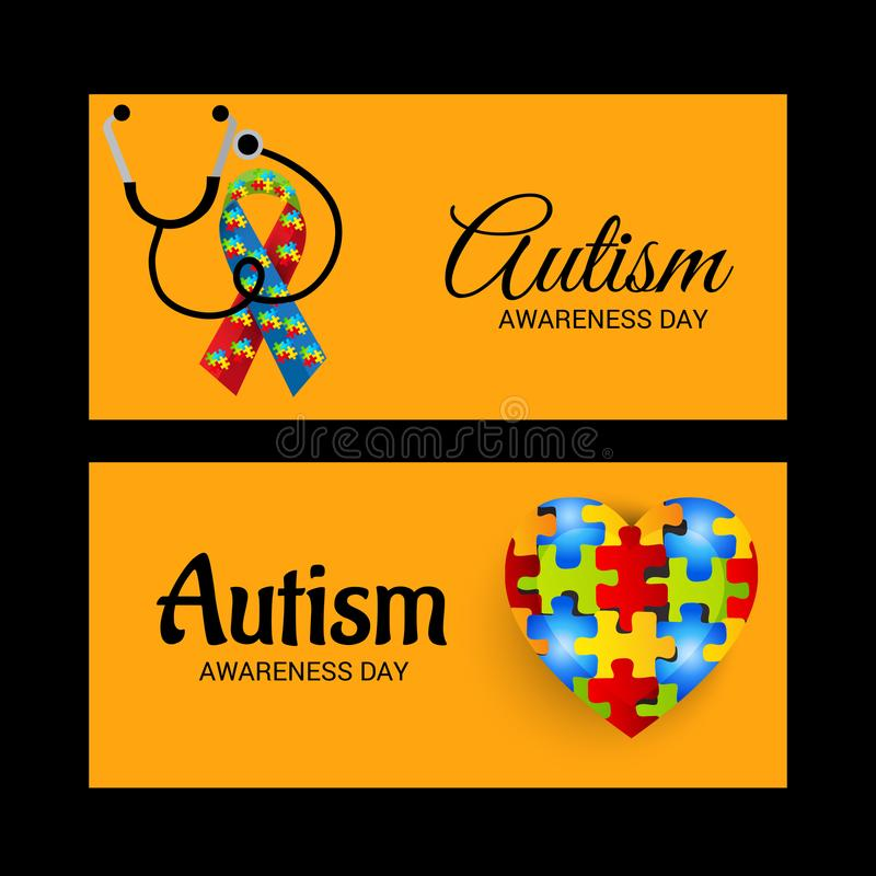 Autism Awareness Day. Illustration of a Background for Autism Awareness Day stock illustration