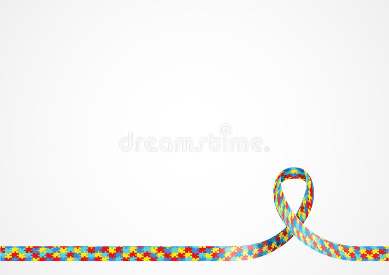 Download Autism Awareness Ribbon Background Stock Vector   Illustration Of  Decorative, Sign: 87680539