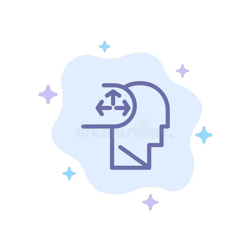 Autism, Disorder, Man, Human Blue Icon on Abstract Cloud Background royalty free illustration