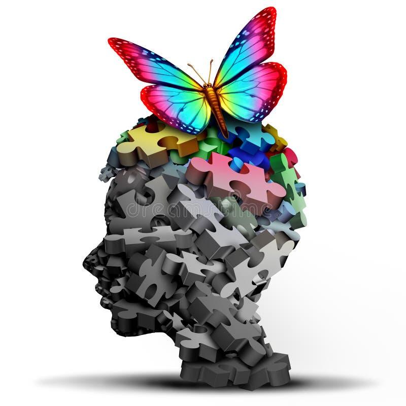 Autism Idea And Autistic Developmental Disorder stock illustration