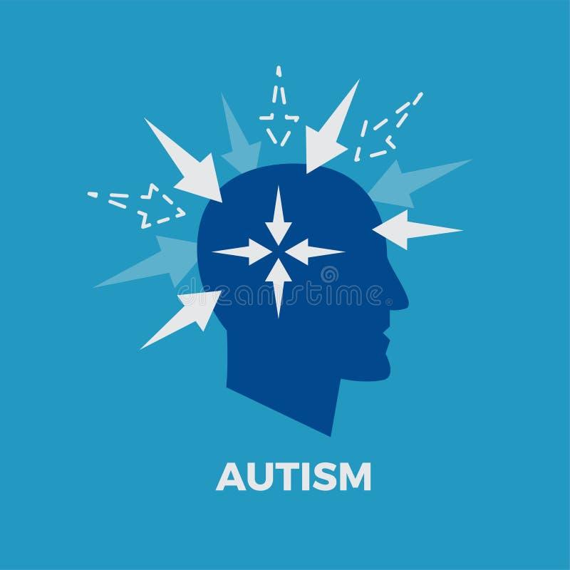 autism ilustração do vetor do conceito ilustração royalty free