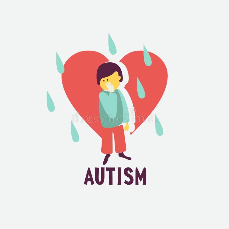 autism L'emblème du syndrome de l'autisme chez les enfants Childr illustration stock
