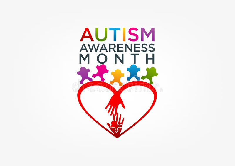 Autism logo royalty free illustration