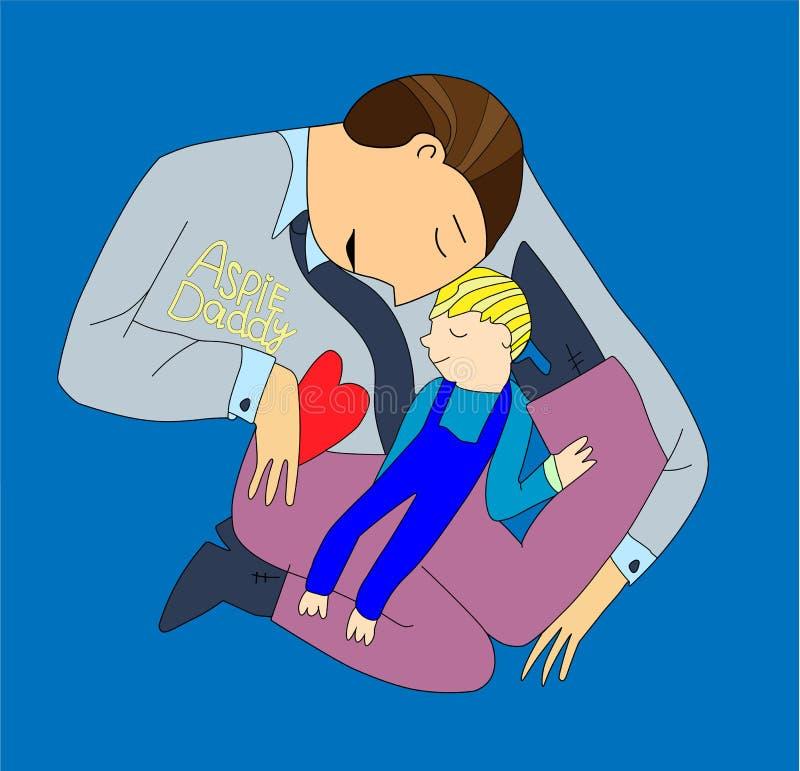 autism Segni in anticipo della sindrome di autismo in bambini Segni e sintomi di autismo in un bambino Illustrazione piana di vet illustrazione di stock