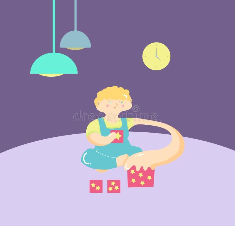 autism Segni in anticipo della sindrome di autismo in bambini Emblema di vettore Icona di disordine ASD di spettro di autismo di  illustrazione vettoriale