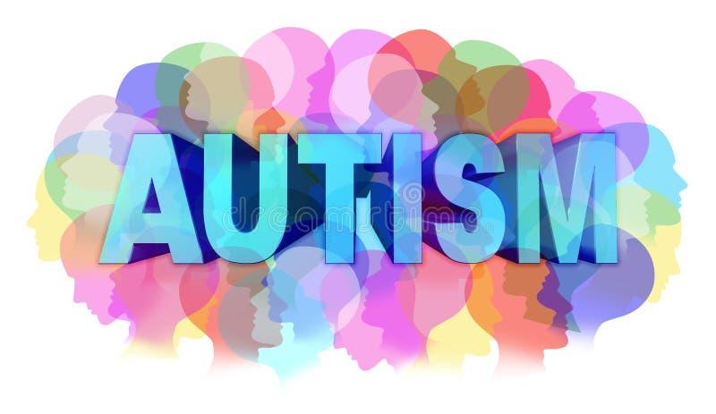 Autismdiagnos royaltyfri illustrationer